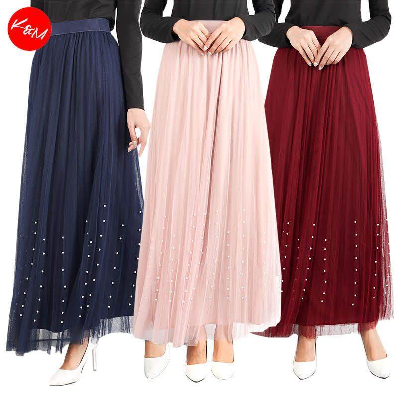 KM Women Voguish Maxi Flared Skirt [S18509]