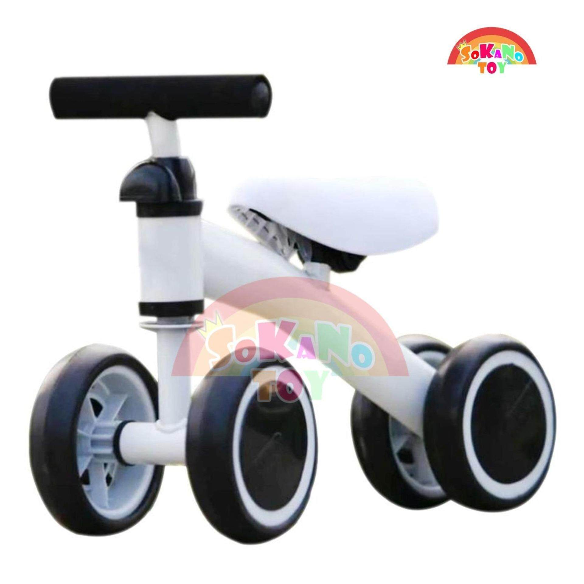 SOKANO TOY T004 Children Balance Bikes Scooter Baby Walker Infant 1-3 years Scooter- White