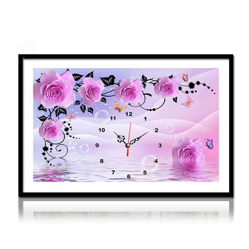Vivid 5D DIY Flowers Diamond Embroidery Rhinestones Painting Picture Home Decor