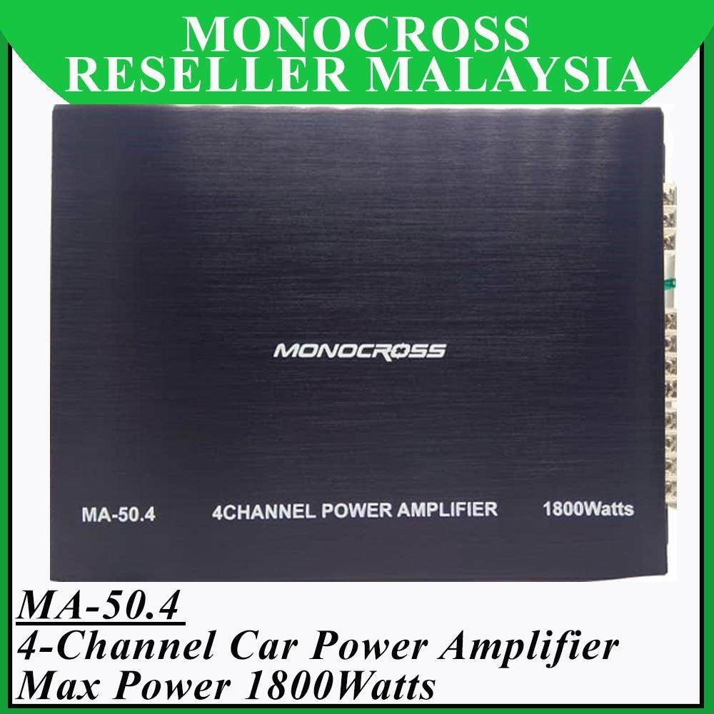 Monocross MA-50.4 Mosfet High Power Amplifier 4 Channel Max Power 1800Watts
