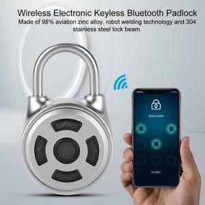 Smart Bluetooth Padlock Wireless Lock Keyless APP Control Password Home Security