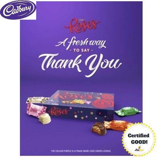 Cadbury Roses - Assortment of Milk & Dark Chocolates 225g *FREE Gift*
