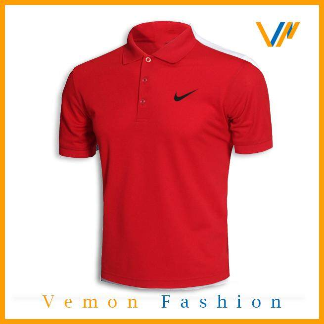 NIKKE POLO T-SHIRT MEN POLO TEE by Vemon Fashion