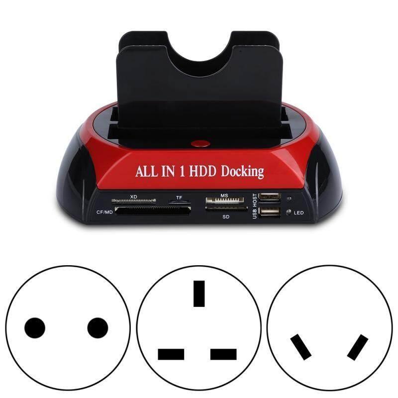 External Hard Drives - Docking Station Hard Disk Drive Dock USB 2.0 Card Reader - [EU PLUG / UK PLUG / AU PLUG]