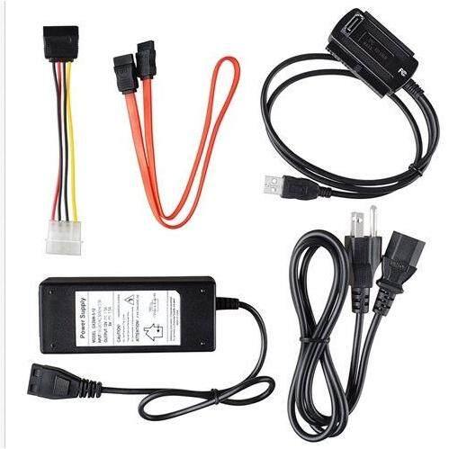 HD HDD Hard Drive Adapter Converter Cable USB 2.0 to IDE SATA 2.5 3.5 USA Plug - BLACK USB TO SATA ID / CRYSTAL USB TO SATA