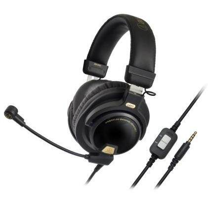 Audio Technica ATH-PG1 Premium Over-ear Gaming Headset 44mm Drivers Headphones with Boom Microphone Mute and Volume In-line Controls