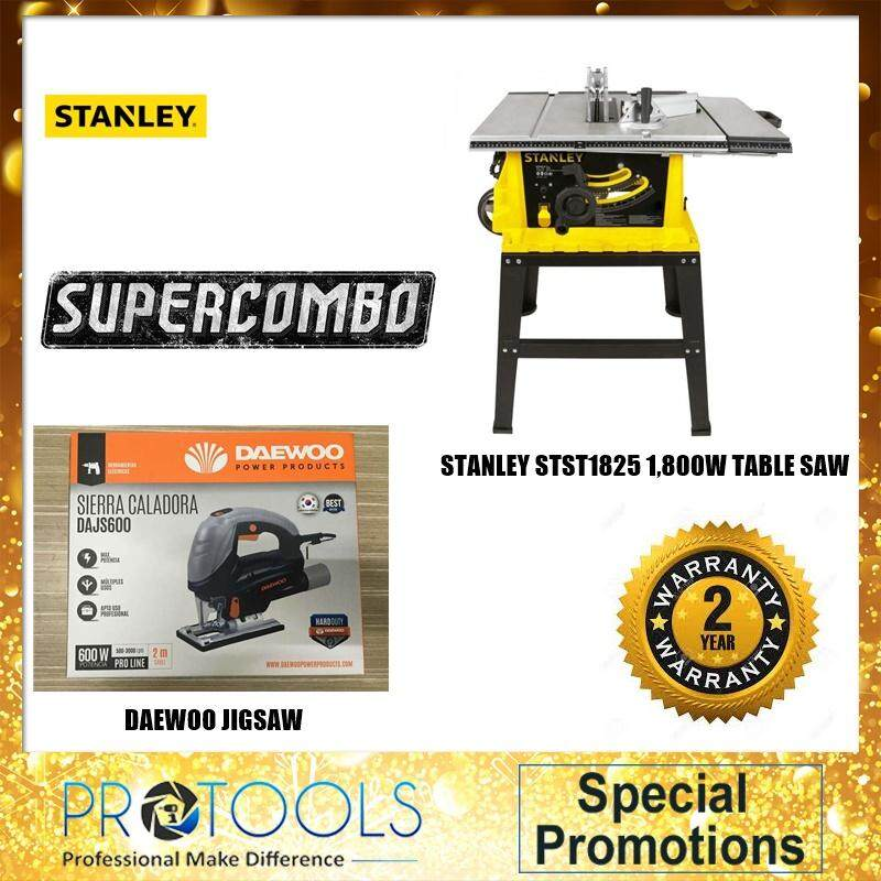 STANLEY STST1825 1800W TABLE SAW FOC STANLEY 8M MEASURING TAPE /JIGSAW / VACUUM CLEANER