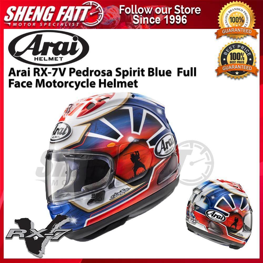 Arai RX-7V Pedrosa Spirit Blue Full Face Motorcycle Helmet