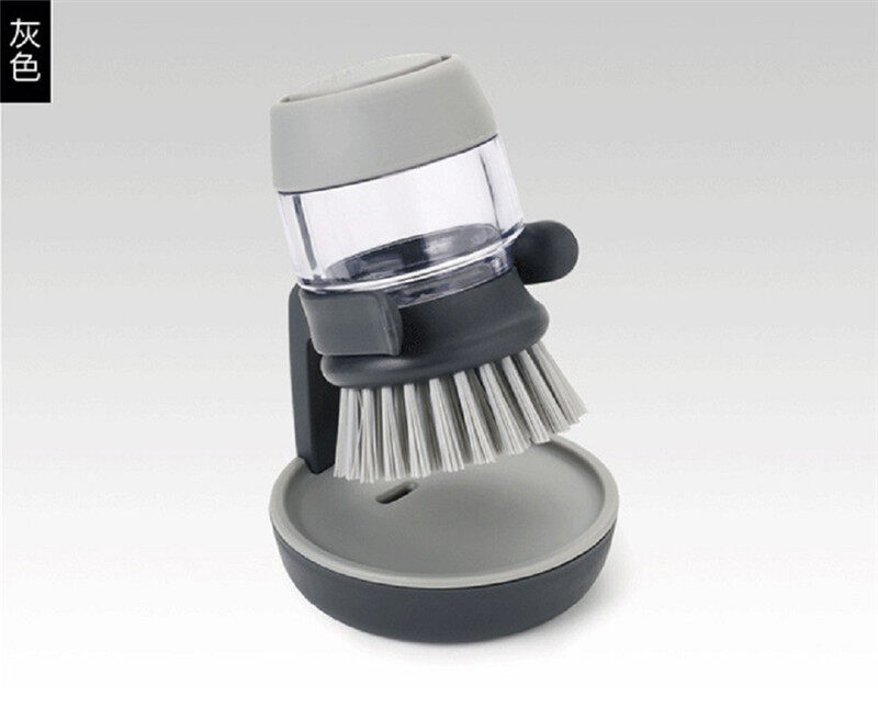1PC Chổi Cọ Bát Đĩa Với Rửa Lọ Đựng Dung Dịch XÀ PHÒNG RỬA Bàn Chải Nồi Rửa Bếp Dụng Cụ Bàn Chải Sạch Nồi