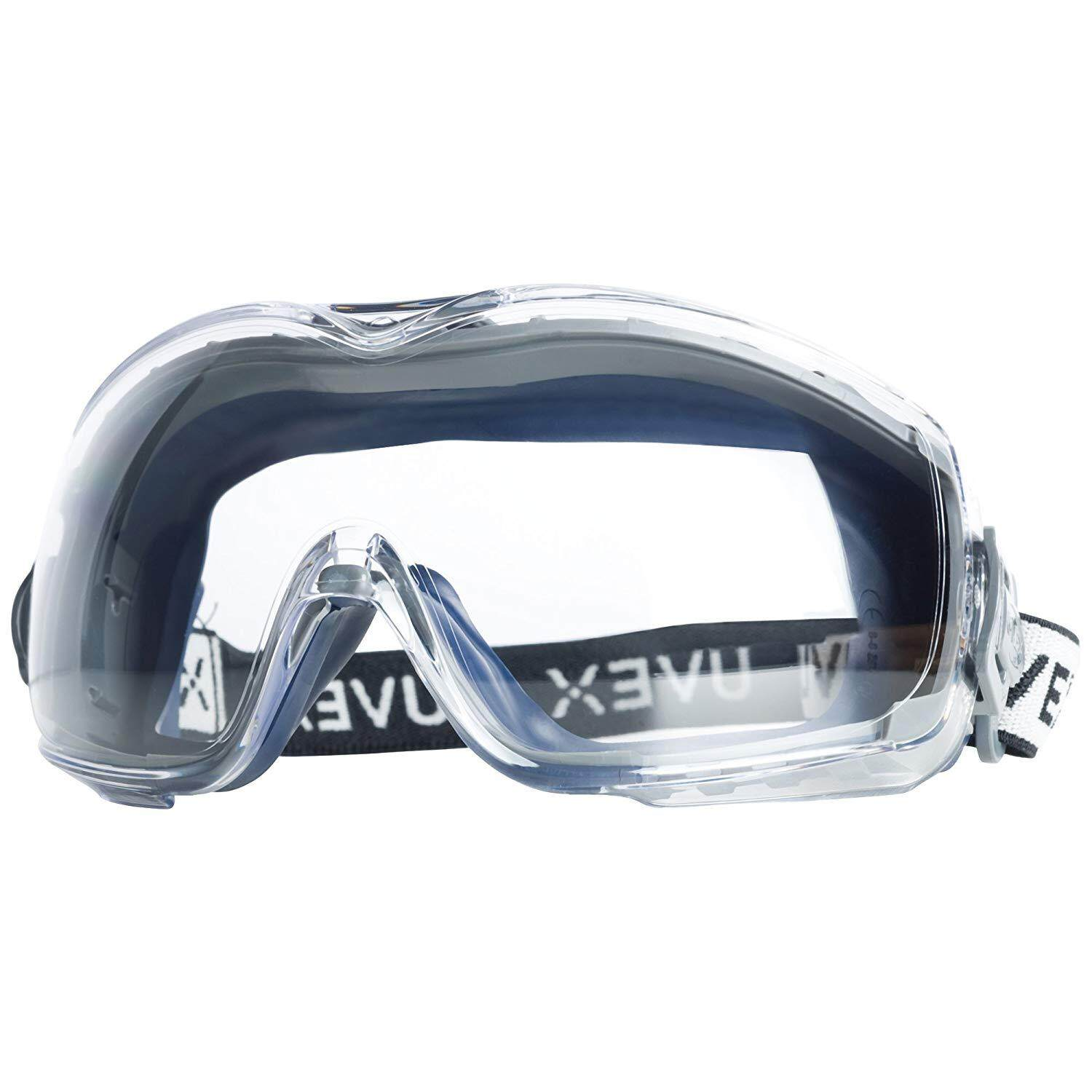 Uvex Stealth OTG Safety Goggles with Anti-Fog/Anti-Scratch Coating (S3970DF) - 19369