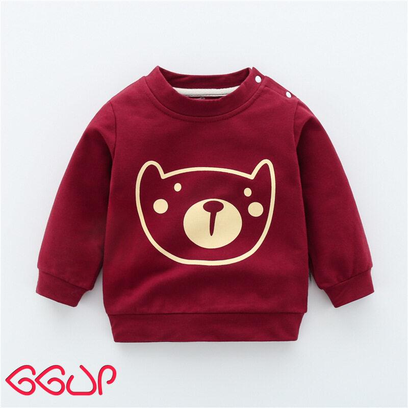 GGUPเสื้อสเวตเตอร์เด็ก1-3ปี,ฤดูใบไม้ผลิและฤดูใบไม้ร่วงเสื้อสเวตเตอร์แขนยาวสำหรับเด็กผู้ชายเสื้อคอกลมเสื้อตัวบน