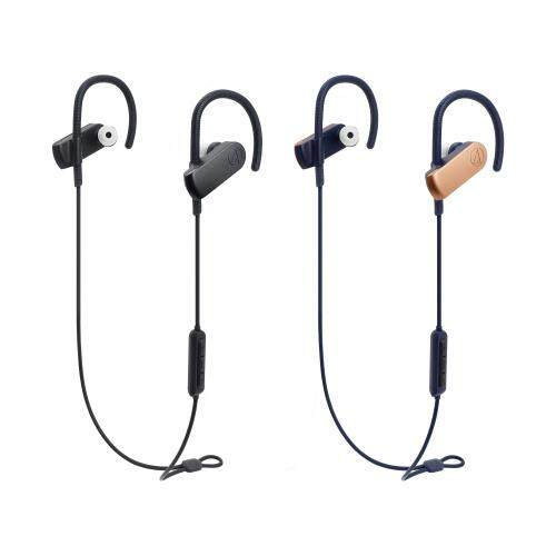 Audio Technica ATH-SPORT70BT Sonic Sport Bluetooth 4.1 Wireless In-Ear Headphones 9mm Drivers IPX5 Water Resistant (Full Black / Black and Gold Version)