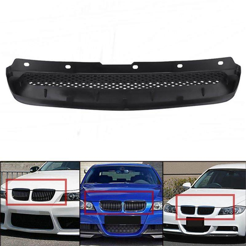 Car Lights - Black Mesh ABS Front Hood Grille Grill Bumper for Honda Civic JDM Type R 1996-98
