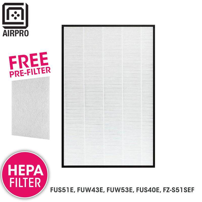 AIRPRO for Sharp Air Purifier HEPA Filter for FU-S51E, FU-W43E, FU-W53E FU-S40E, FZS51SEF