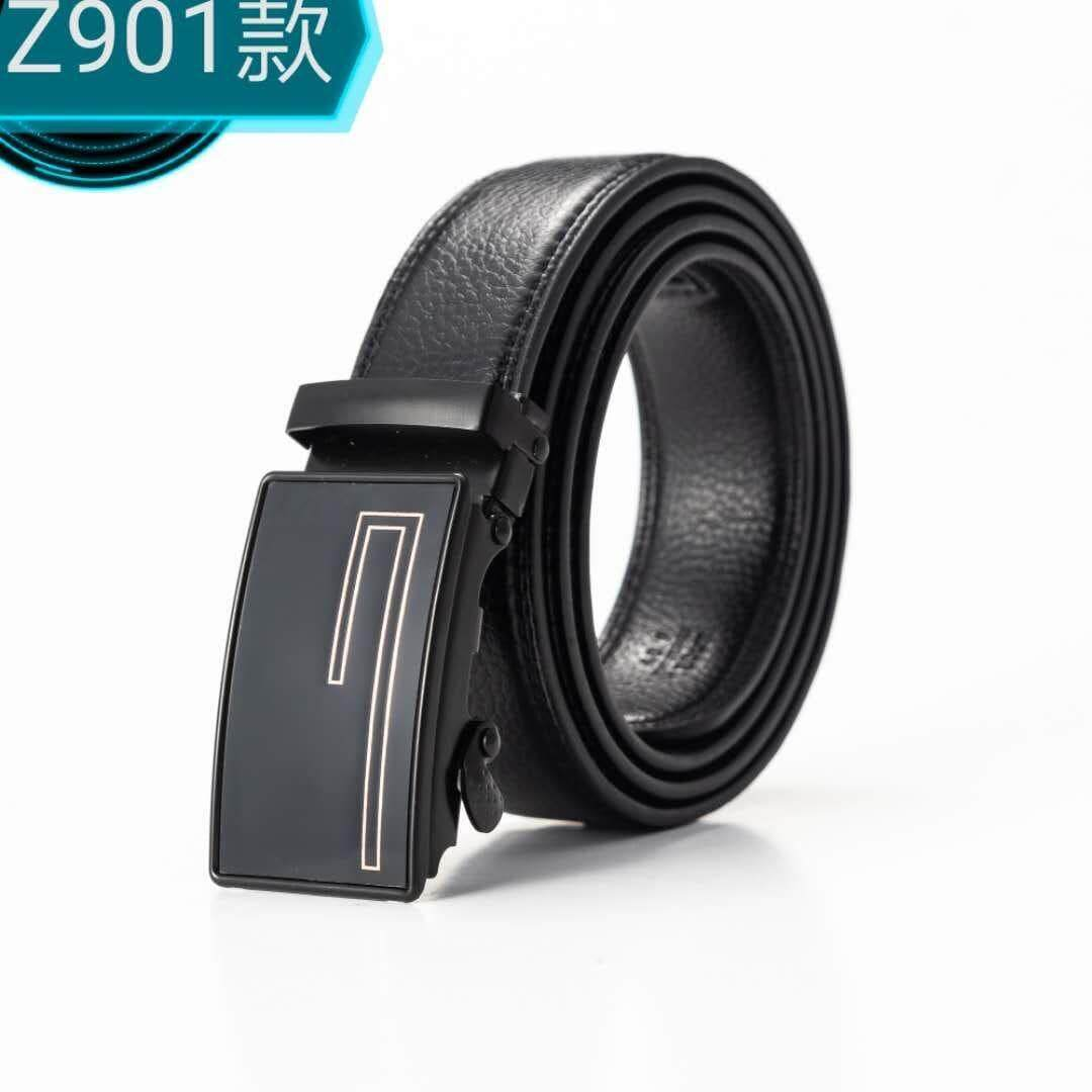 [M'sia Warehouse Direct] 2019 Korean Series Mens Automatic Buckle Belt Classic Black Series Limited Perfect Gift (Come With Box) Luxury Classy English Style Leather Belt Suitable For Formal Wear Jeans Casual Wear Belt Long Lasting Tali Pinggan Kulit Halal