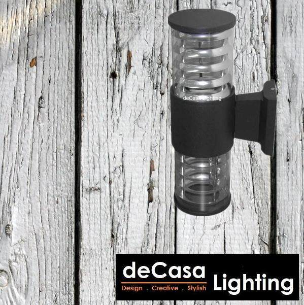 Lampu Dinding Best Seller Decasa Outdoor Wall Light Wall Lamp Black Updown Effect Light (NWT-048-2-BK)