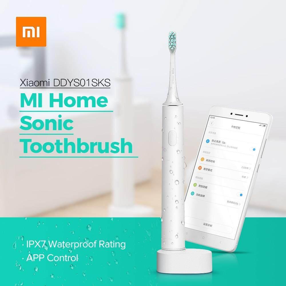 แปรงสีฟันไฟฟ้า รอยยิ้มขาวสดใสใน 1 สัปดาห์ ศรีสะเกษ Xiaomi Mi Home แปรงสีฟันไฟฟ้ากันน้ำเกี่ยวกับระบบเสียงที่สามารถชาร์จไฟได้ Travel แปรงสีฟันไฟฟ้า Oral สุขอนามัยควบคุม APP