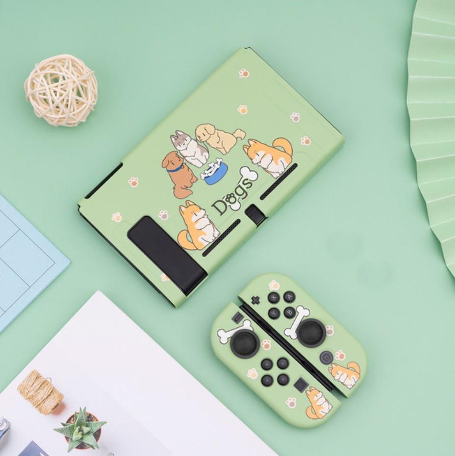 Hình ảnh Nintendo Switch Trường Hợp Bảng Fork Rabbit & Cookie Gấu & Ngọt Ngào Beast Cứng Bìa Lại Grip Ốp Điện Thoại TPU Cho NS Phụ Kiện