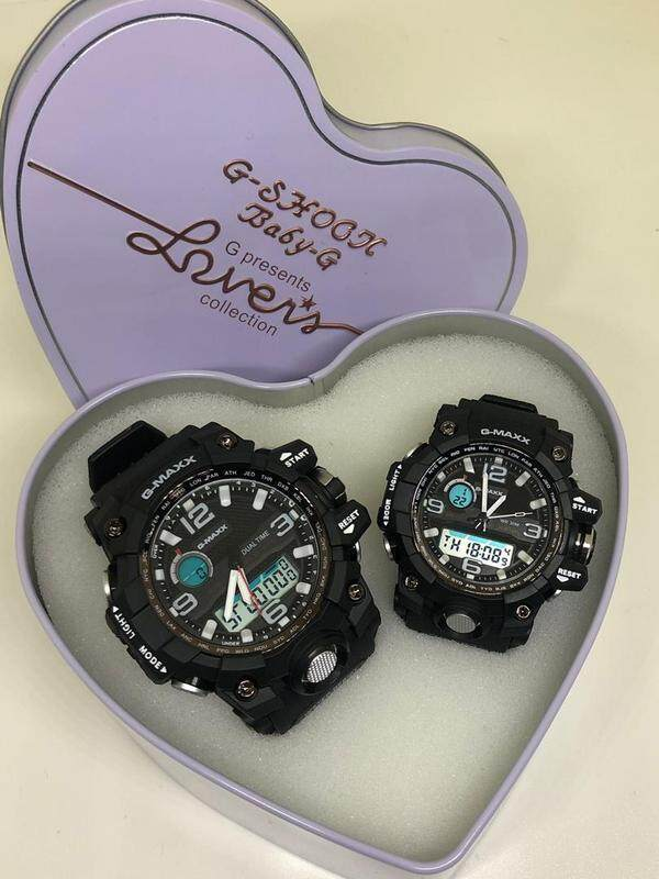 {Special Promotion} Sport Casio G-Shock_DW-1523NB Couple Full Set Dual time Display For Men & Women With Own Heart Gift Box Mineral Glass New Sport Casual Couple Follow Us For More