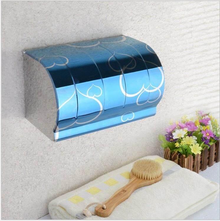 ELEGANT STYLEZ Stainless Steel Wall Mount Toilet Tissue Bathroom Paper Roll Holder Box K203