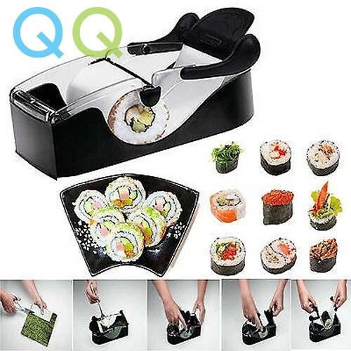 QQ Perfect Easy DIY Japanese Sushi Roller Cutter Machine Kitchen Gadgets Magic Maker Perfect Roll Tool Alat Pembuat Sushi