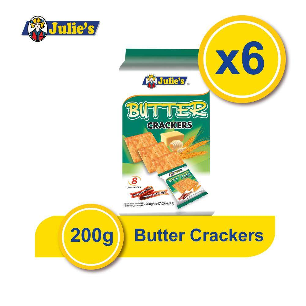Julie's Butter Crackers 200g x 6 Packs