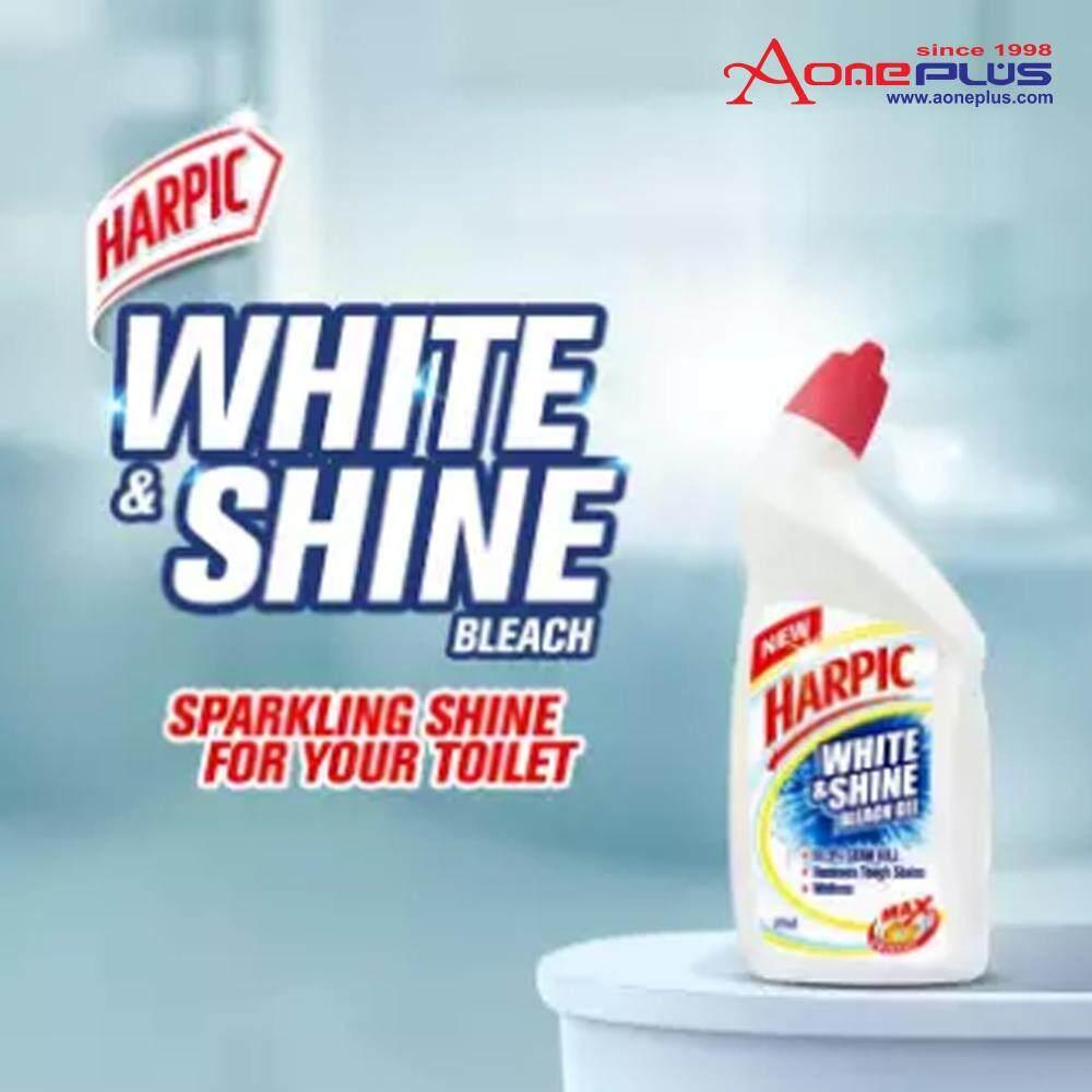 Harpic White & Shine Bleach Toilet Cleaning Gel 500ml x2 (Value Pack)