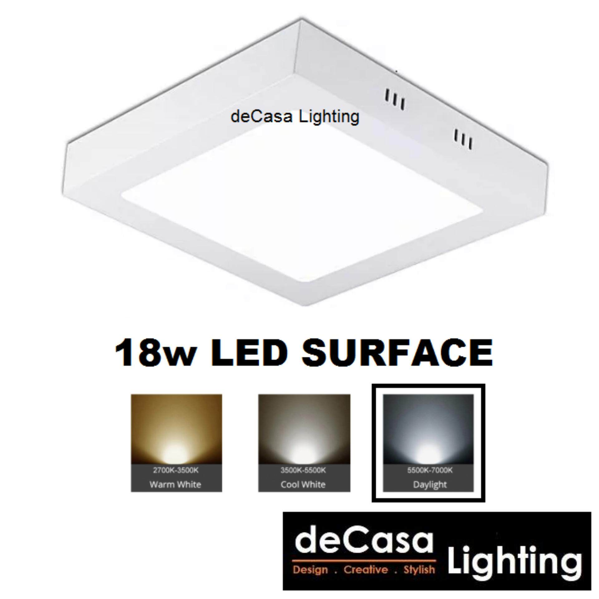 18w Led Surface Downlight Square Daylight DECASA LED SURFACE LIGHT (AY-18W-DL)