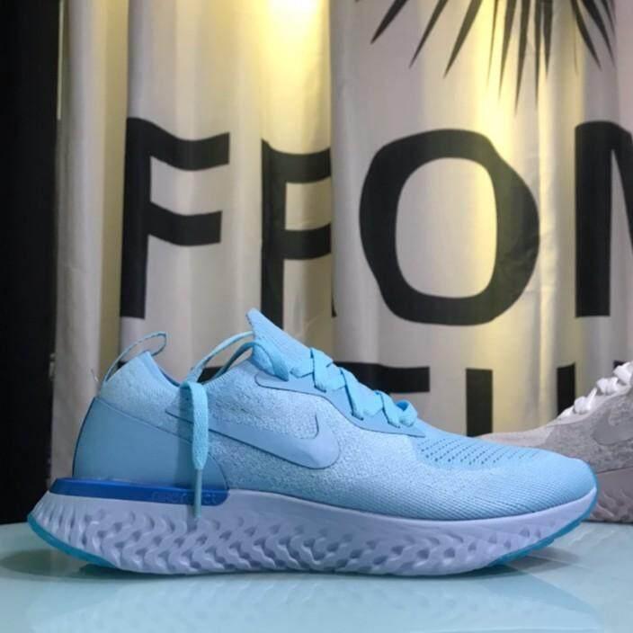 สอนใช้งาน  ภูเก็ต Nike EPIC React Flyknit โฟมทอ Rainbow วิ่งรองเท้า