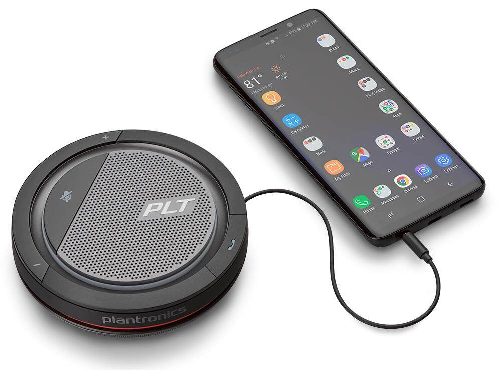 Plantronics Calisto 5200 Portable personal speakerphone with 360 audio and USB and 3.5 mm connectivity (2 Years Warranty)