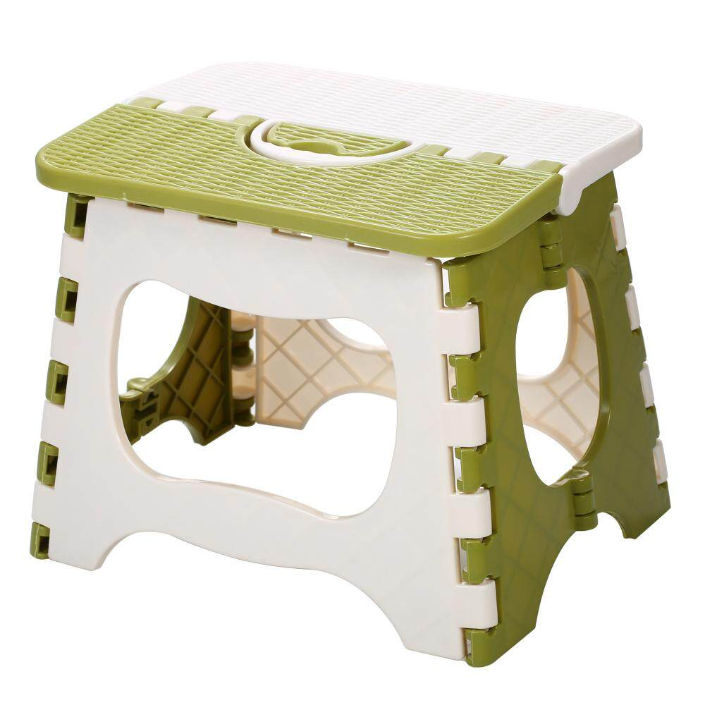 เช่าเก้าอี้ หนองคาย Plastic Folding Step Stool Portable Folding Chair Small Bench for Children and Home Use