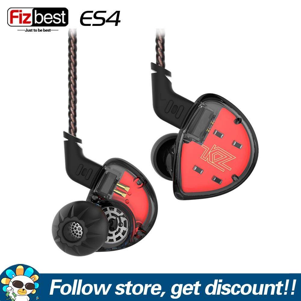 KZ ES4 1BA With 1DD Hybrid In Ear Earphone DJ Monito Running Sport Earphone Headset HIFI Bass Earbuds With Detachable Upgrade Replacement Cable KZ Music Earphones For Iphone Xiaomi Huawei Smart Mobile Phone MP4 MP3 Player