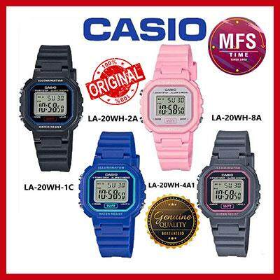 (2 YEARS WARRANTY) CASIO ORIGINAL LA-20WH SERIES DIGITAL KID'S WATCH