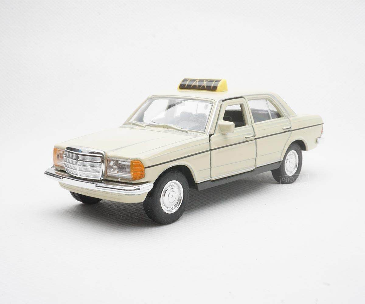 Welly Mercedes-Benz W123 Taxi 1:36 1:32 1/36 Diecast car model collection ivory
