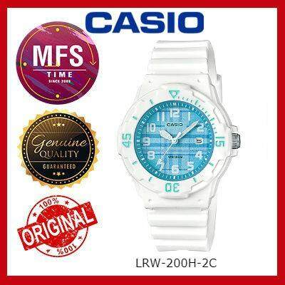 2 YEARS WARRANTY) CASIO ORIGINAL LRW-200H-2C SERIES STUDENT & KID'S WATCH