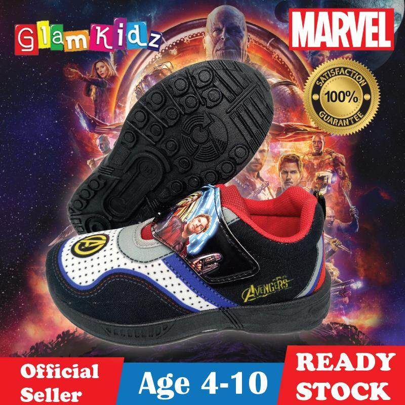 GlamKids Marvel Avengers Infinity War Children Shoes for Kids Sports Shoes Sneakers for Boys Kids Shoes (Black) #7285