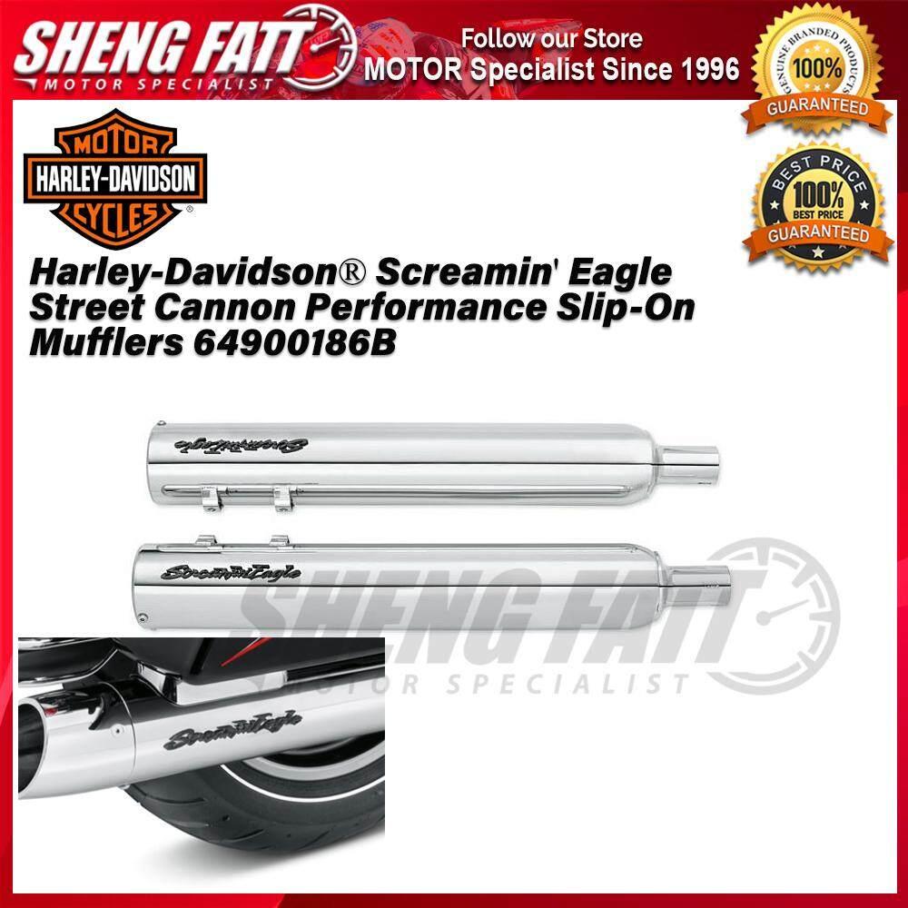 Harley-Davidson® Screamin' Eagle Street Cannon Performance Slip-On Mufflers 64900186B - [ORIGINAL]