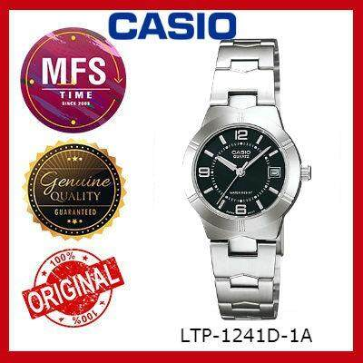 (2 YEARS WARRANTY) CASIO ORIGINAL ENTICER LTP-1241D-1A SERIES LADIES WATCH