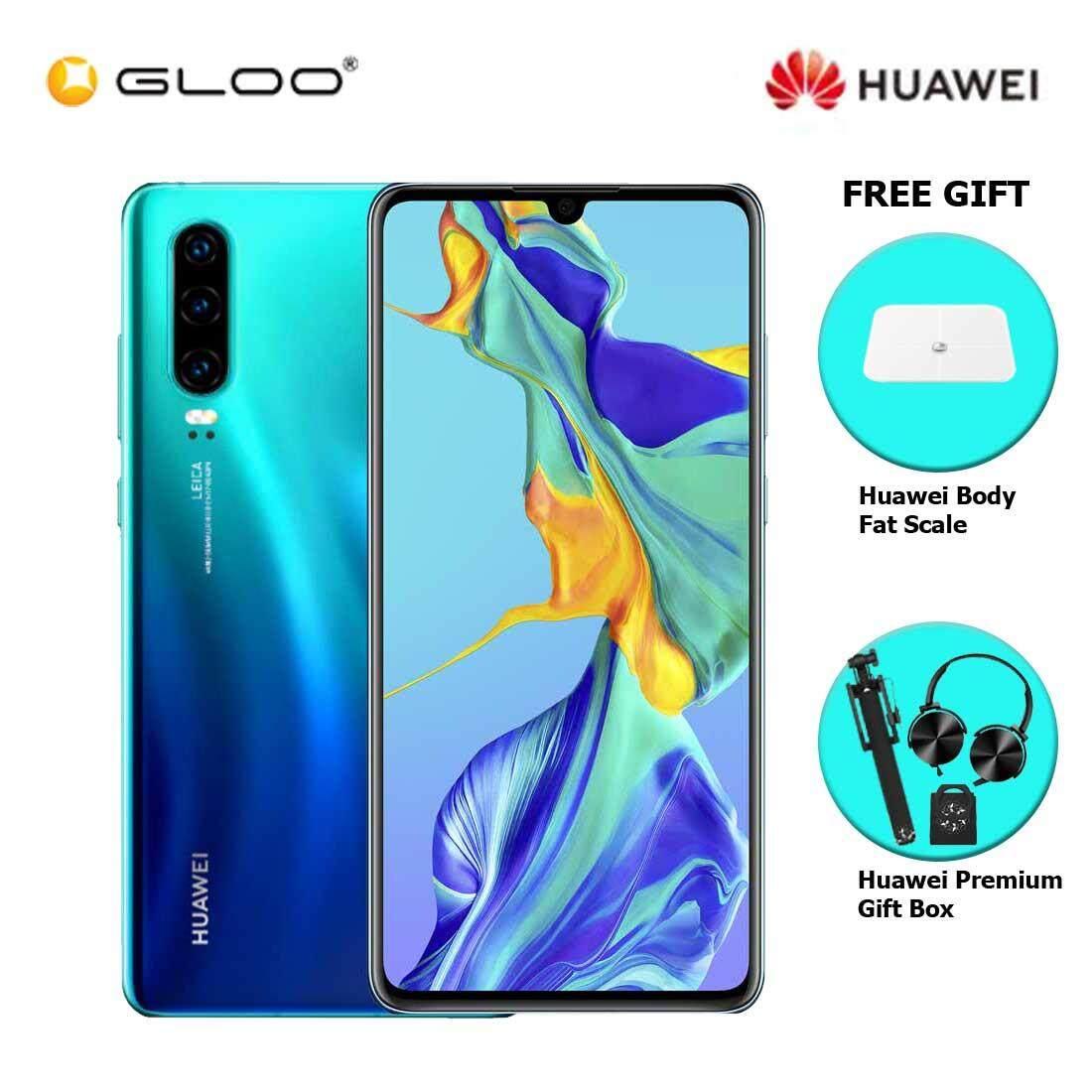 Huawei P30 8GB+128GB Aurora + FREE Huawei Body Fat Scale 6901443198375,Premium Gift Box (Headset/Selfie Stick/iRing)