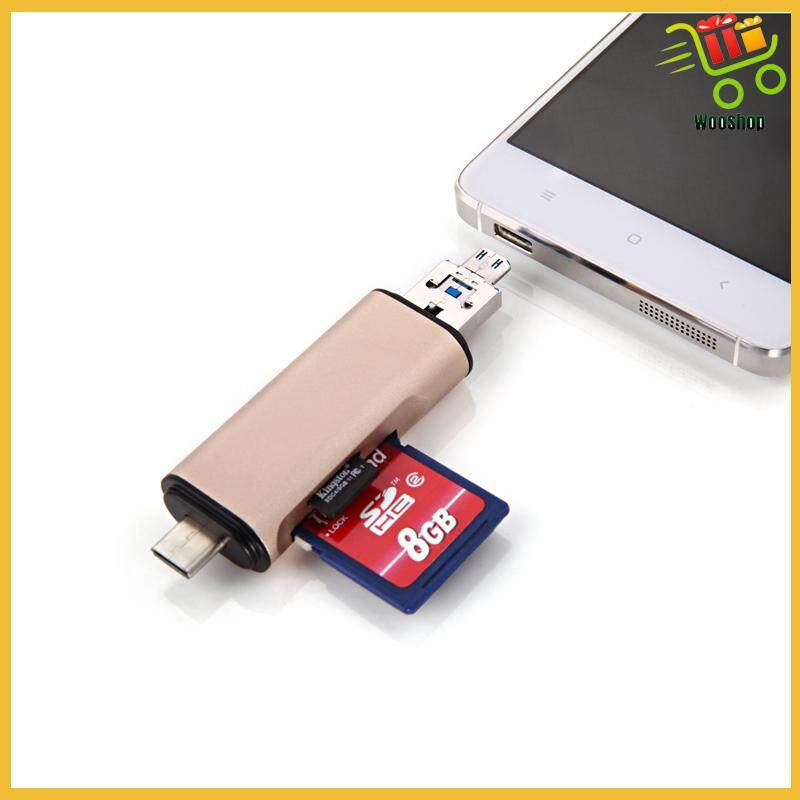 TF SD Card Reader USB2.0 Type C Micro USB High Speed Transmission Memory Slot - SILVER / SPACE GRAY / GOLD / ROSE GOLD