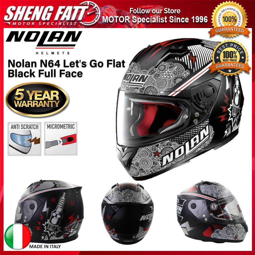 Nolan N64 Let's Go Flat Black Full Face Motorcycle Helmet [ORIGINAL]