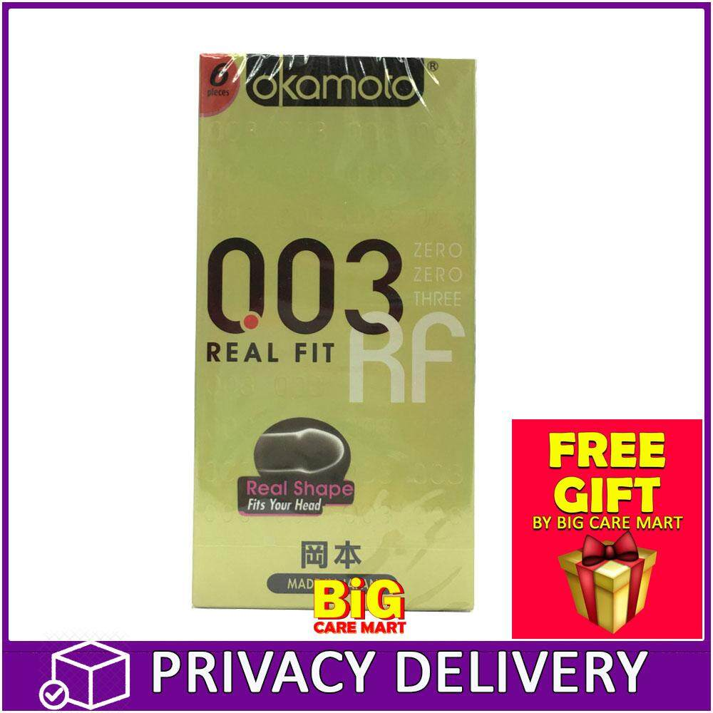Okamoto 003 RF Real Fit Condoms 6s Made in Japan + GIFT