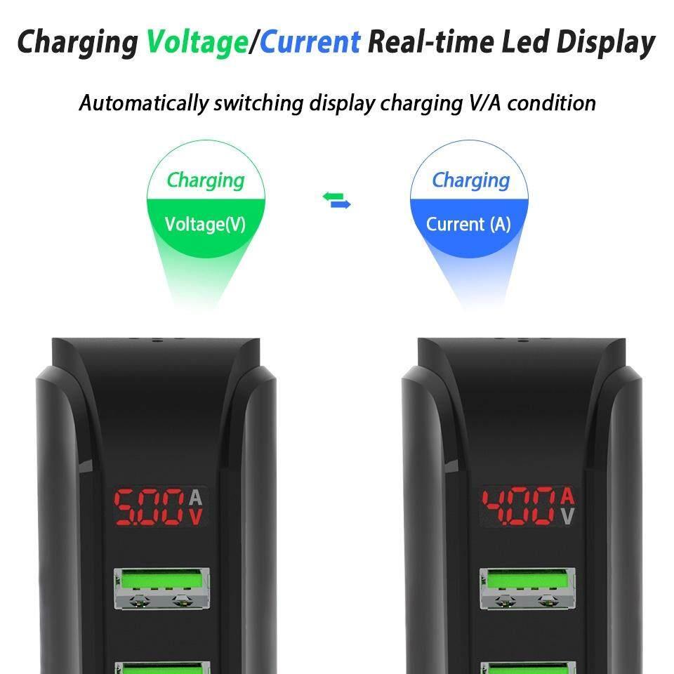 5V 4A 5 Ports Universal USB Wall Charger Hub Adapter Home Travel - BLACK / WHITE