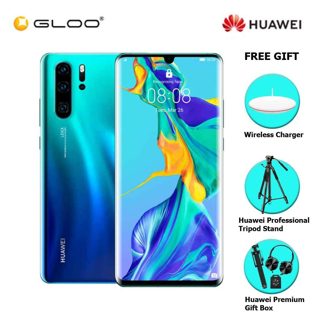 Huawei P30 Pro 8GB+256GB Aurora + FREE Huawei Wireless Charges CP60 6901443259328,Huawei Professional Tripod Stand,Premium Gift Box (Headset/Selfie Stick/iRing)