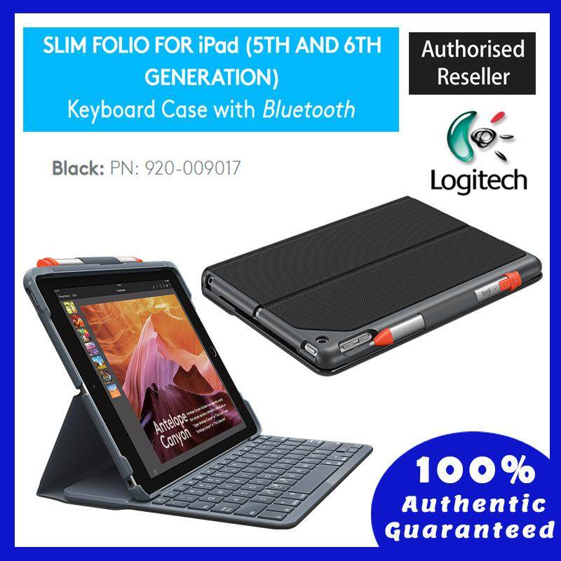 logitech slim folio with integrated bluetooth keyboard for ipad (5th and 6th generation)