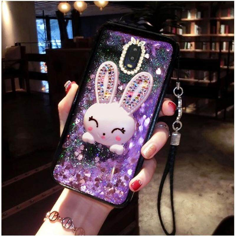 ขายดีมาก! For OPPO F11 Pro Cute Glitter Diamond Rabbit Stand Case Bling Quicksand cover For OPPO f11Pro