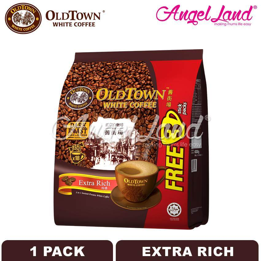 OLDTOWN White Coffee 3-in-1 Extra Rich Instant Premix White Coffee (15'S+3'S X 1 pack)