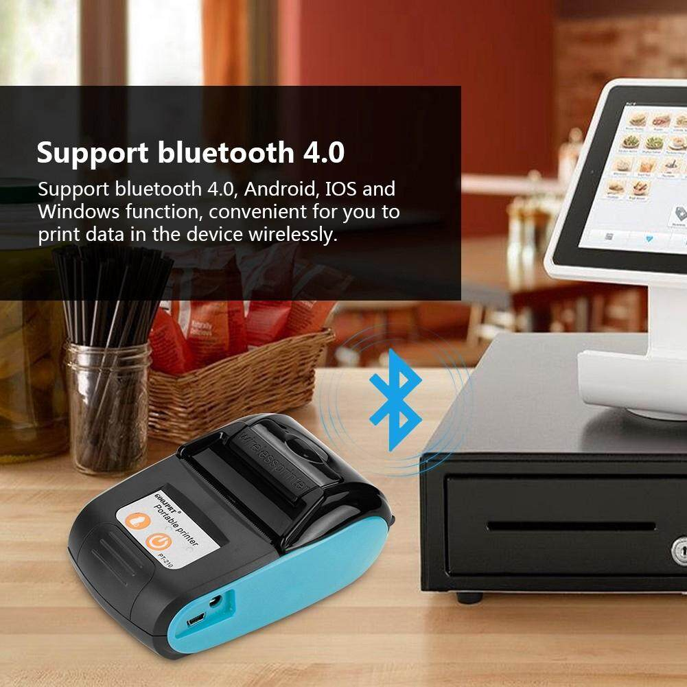 Printers - Wireless Portable Receipt Printer Bluetooth Thermal Bill Printer 58 mm 110-240 V - [BLUE- USS) / (BLUE- BS / (BLUE- VDE) / (ORANGE- USS) / ORANGE- BS) / (ORANGE- VDE)]