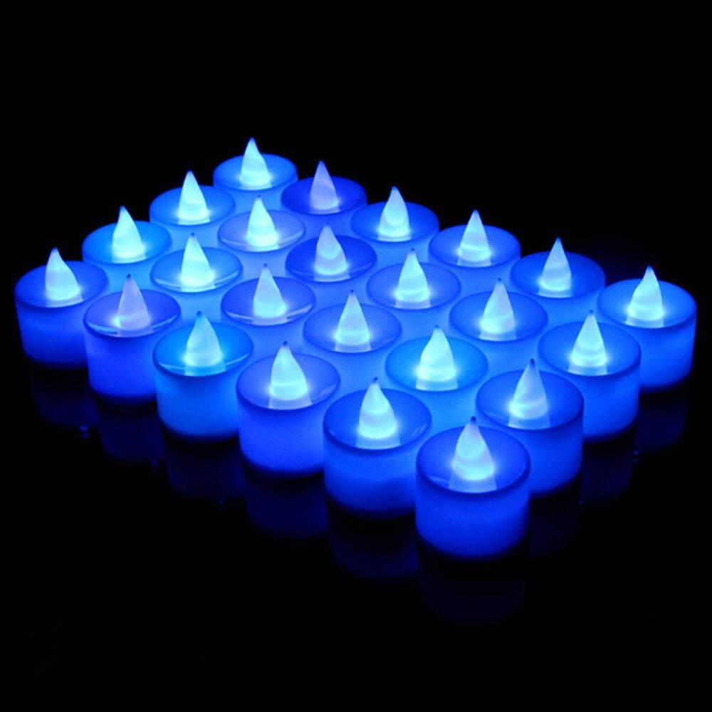 24 CHIẾC Điện Tử Nến Lãng Mạn Đèn Flameless Nến Tealight Tiệc Cưới Sân Trang Trí Dây ĐÈN LED Chiếu Sáng Flameless Nến