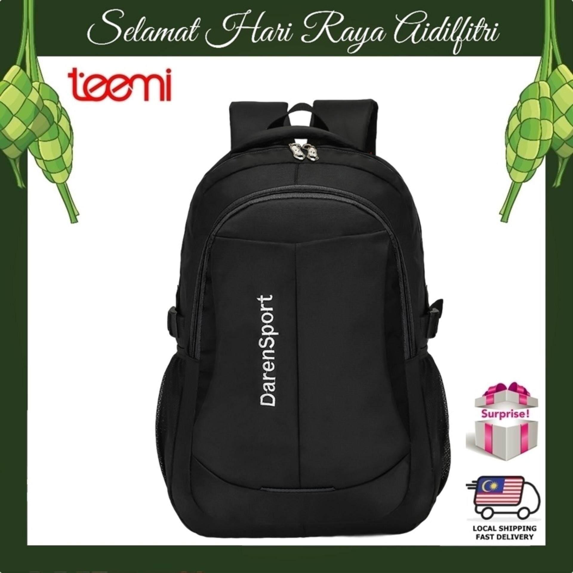 TEEMI Unisex 14 Inch Laptop Backpack Men Women Highlight Travel Business College Teenager Student School Bag Sports Day Pack - Black
